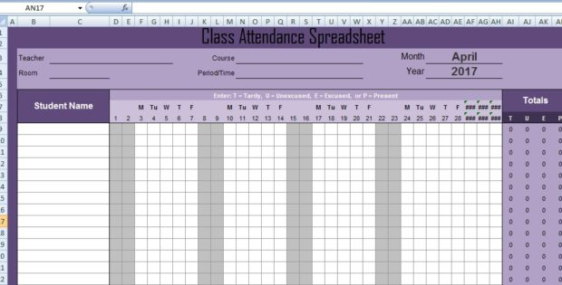 Excel Spreadsheet Templates Just another WordPress site – Attendance Spreadsheet Template Excel