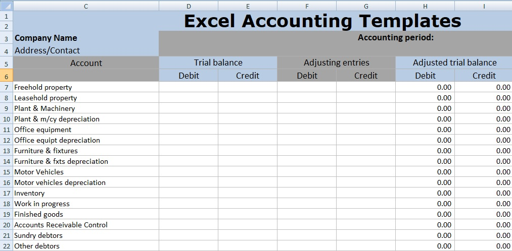 Excel Depreciation Template