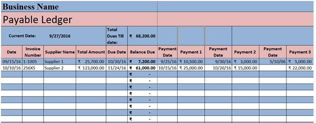Accounts Payable Template Excel