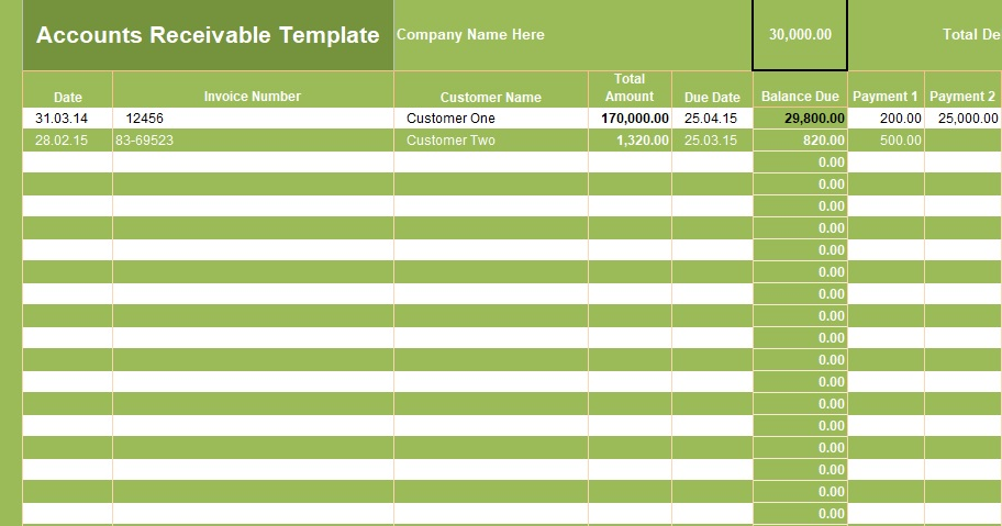 get accounts receivable template spreadsheettemple. Black Bedroom Furniture Sets. Home Design Ideas