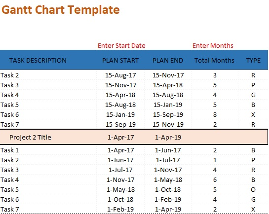 Free Gantt Chart Excel Template Download