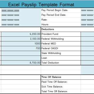 Download Excel Payslip Template Format
