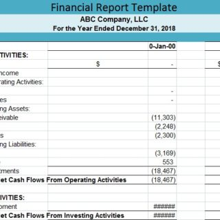 Financial Report Template Free  Financial Report Template Free