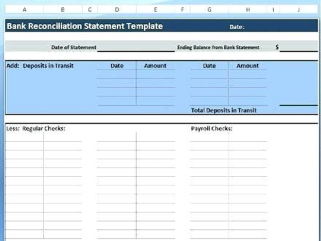 deposit form excel template  Bank Reconciliation Spreadsheet Example in Excel - Excel ...