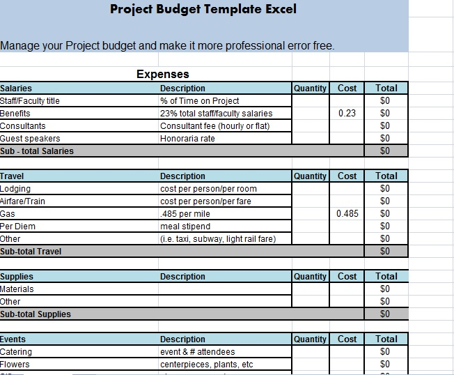 event cost analysis template - 2 excel spreadsheet budget templates in xlsx excel
