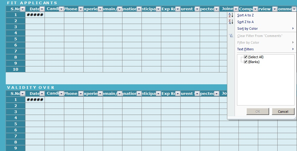 Recruitment Tracker Excel Template